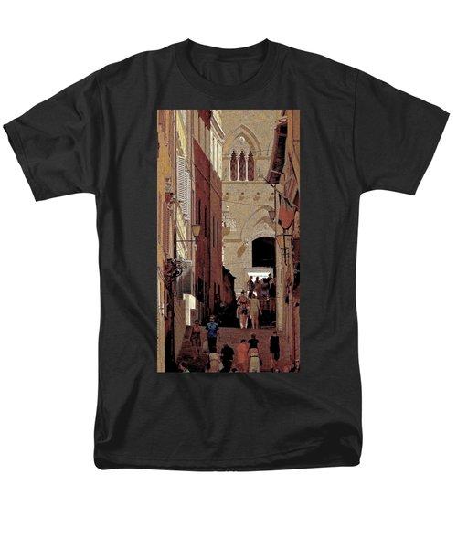 Chiaroscuro Siena  Men's T-Shirt  (Regular Fit) by Ira Shander