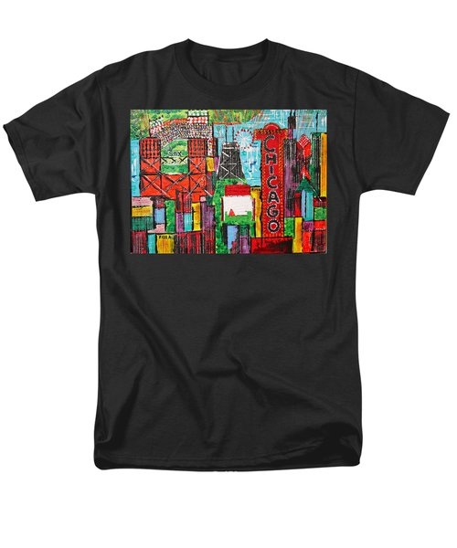 Chicago - City Of Fun - Sold Men's T-Shirt  (Regular Fit) by George Riney