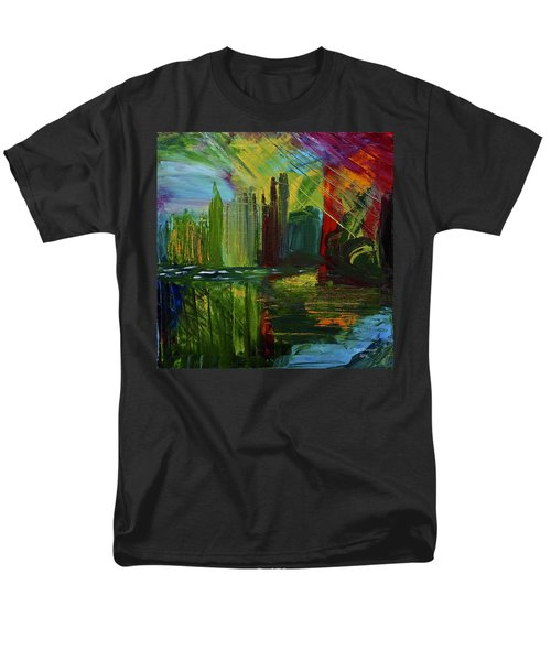 Chicago City Scape Men's T-Shirt  (Regular Fit) by Dick Bourgault