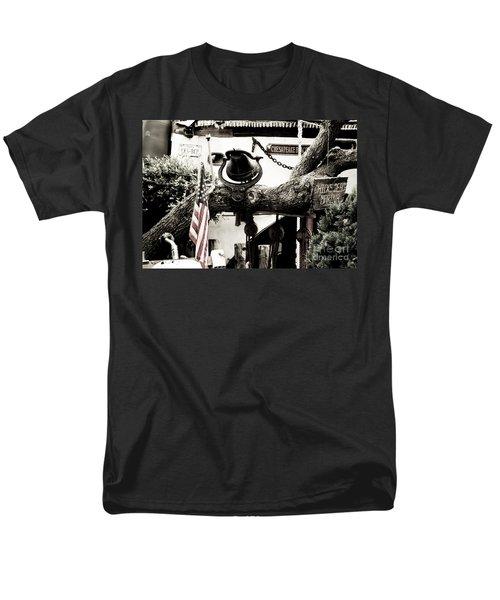 Men's T-Shirt  (Regular Fit) featuring the photograph Chick's Beach Marina by Angela DeFrias