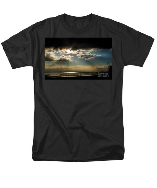 Men's T-Shirt  (Regular Fit) featuring the photograph Chick's Beach Morning by Angela DeFrias