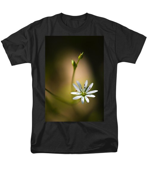 Chickweed Blossom And Bud Men's T-Shirt  (Regular Fit) by Marty Saccone