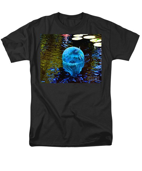 Artsy Blue Glass Float Men's T-Shirt  (Regular Fit) by Luther Fine Art