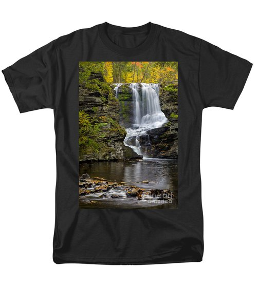 Childs Park Waterfall Men's T-Shirt  (Regular Fit) by Susan Candelario