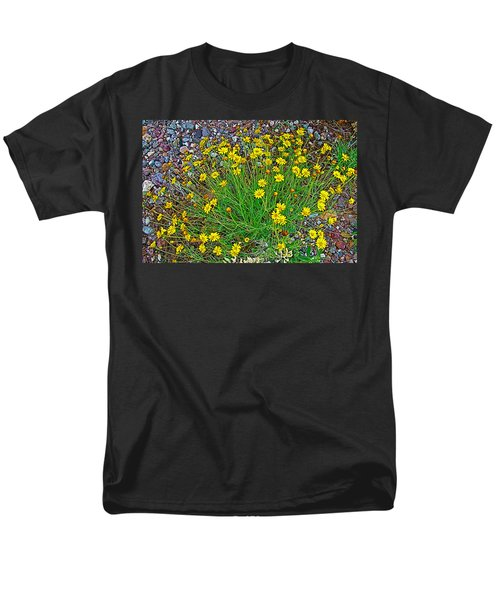 Chinchweed In Big Bend National Park-texas Men's T-Shirt  (Regular Fit) by Ruth Hager
