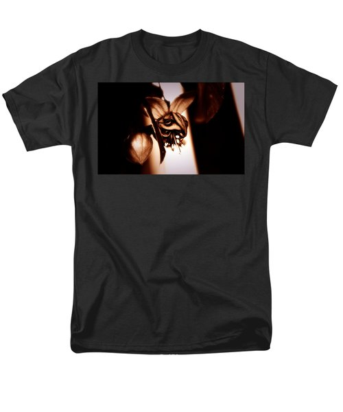 Men's T-Shirt  (Regular Fit) featuring the photograph Chocolate Silk Fuchsia by Jeanette C Landstrom