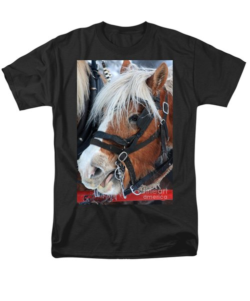 Men's T-Shirt  (Regular Fit) featuring the photograph Chomping On The Bit by Alyce Taylor