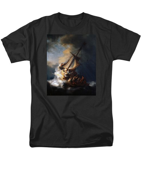 Men's T-Shirt  (Regular Fit) featuring the painting Christ And The Storm by Rembrandt