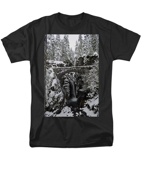 Men's T-Shirt  (Regular Fit) featuring the photograph Christine Falls In The Winter by Tikvah's Hope