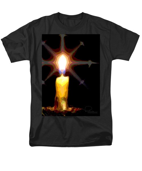 Christmas Candle Men's T-Shirt  (Regular Fit) by Ludwig Keck