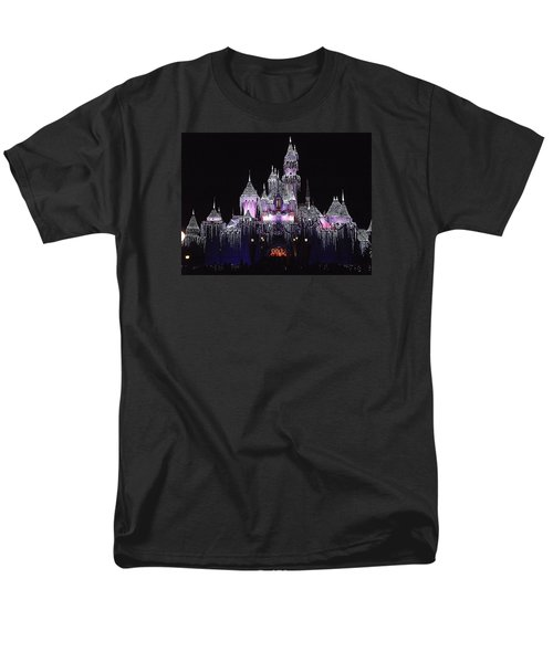 Christmas Castle Night Men's T-Shirt  (Regular Fit) by Nadalyn Larsen