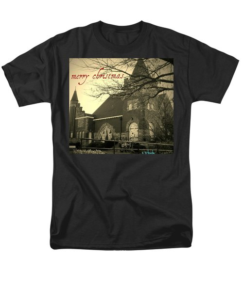 Christmas Chapel Men's T-Shirt  (Regular Fit) by Chris Berry