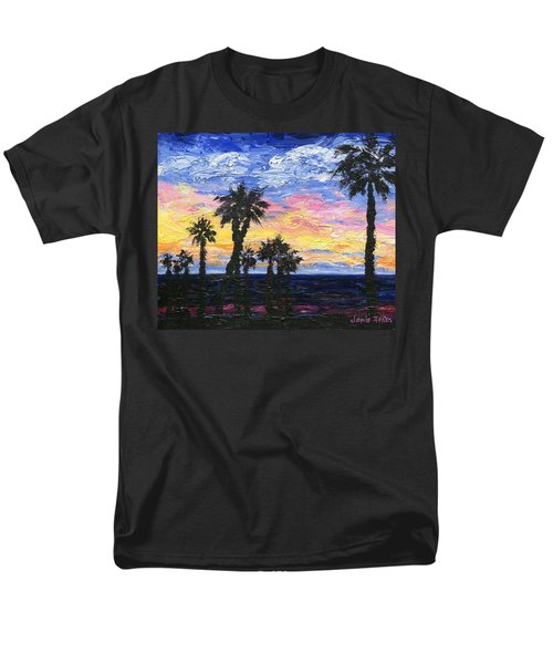 Men's T-Shirt  (Regular Fit) featuring the painting Christmas Eve In Redondo Beach by Jamie Frier