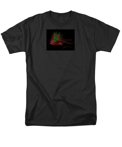 Men's T-Shirt  (Regular Fit) featuring the painting Christmas Fly by Jean Pacheco Ravinski