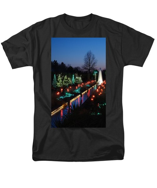 Christmas Reflections Men's T-Shirt  (Regular Fit) by Rodney Lee Williams