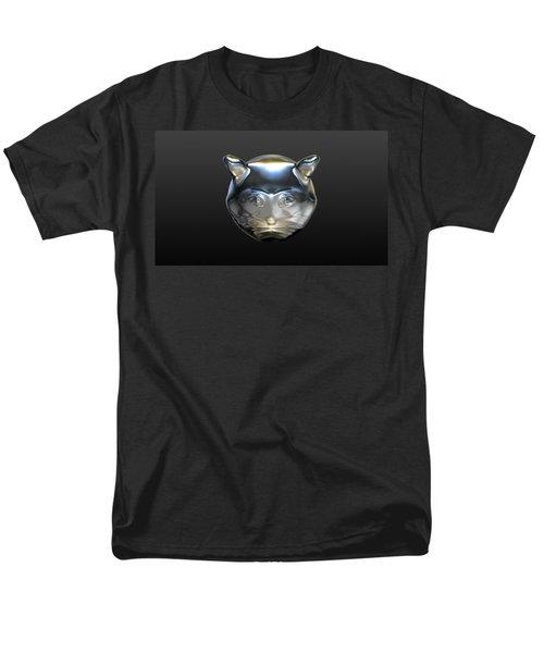 Chrome Cat Men's T-Shirt  (Regular Fit) by Stacy C Bottoms