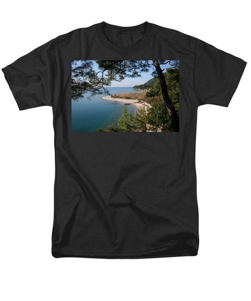 Men's T-Shirt  (Regular Fit) featuring the photograph Cinar Beach by Tracey Harrington-Simpson