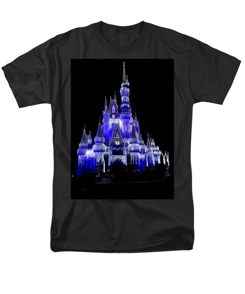 Men's T-Shirt  (Regular Fit) featuring the photograph Cinderella's Castle by Laurie Perry