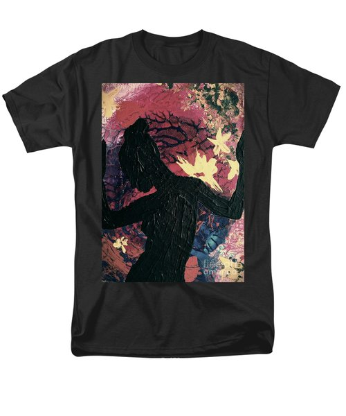 Men's T-Shirt  (Regular Fit) featuring the painting Cinnamon by Jacqueline McReynolds
