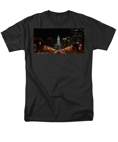 City Hall At Night Men's T-Shirt  (Regular Fit) by Jennifer Ancker