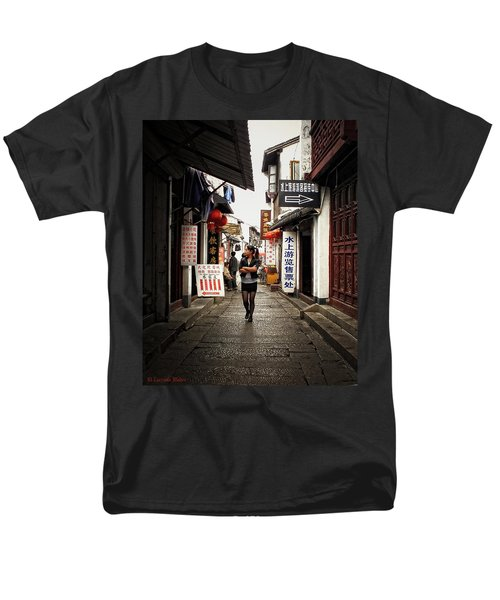 Men's T-Shirt  (Regular Fit) featuring the photograph City Life In Ancient China by Lucinda Walter