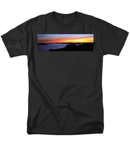 Men's T-Shirt  (Regular Fit) featuring the photograph City Lights In The Sunset by Miroslava Jurcik