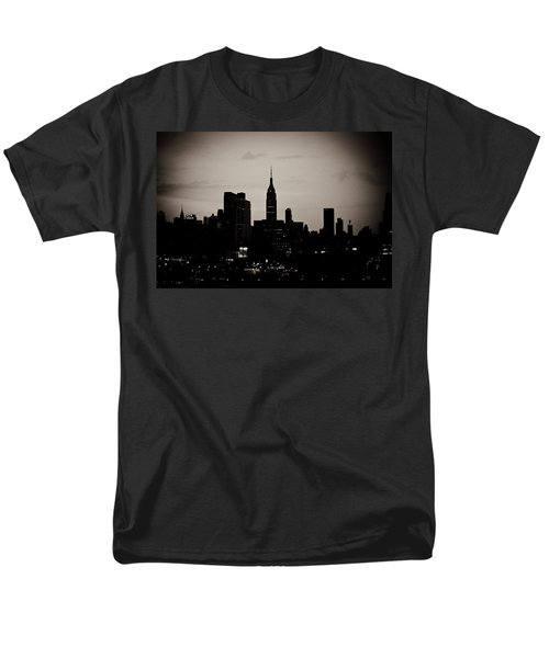 Men's T-Shirt  (Regular Fit) featuring the photograph City Silhouette by Sara Frank