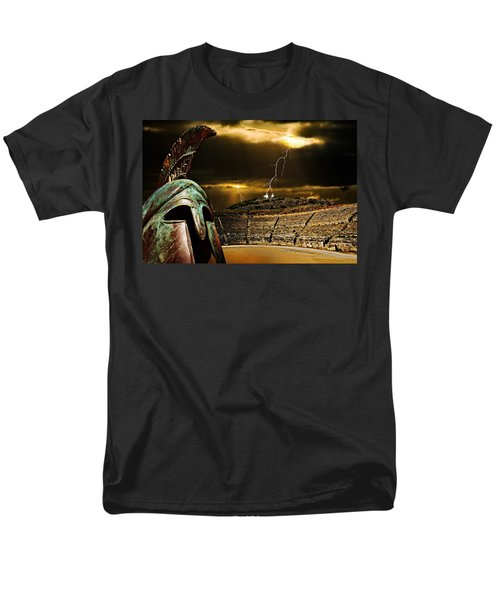 Men's T-Shirt  (Regular Fit) featuring the photograph Clash Of The Titans by Meirion Matthias
