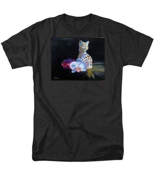 Men's T-Shirt  (Regular Fit) featuring the painting Cloisonne Cat by LaVonne Hand