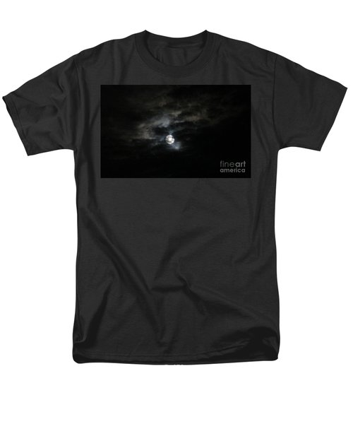 Night Time Cloudy Dark Moon Men's T-Shirt  (Regular Fit) by Barbara Yearty