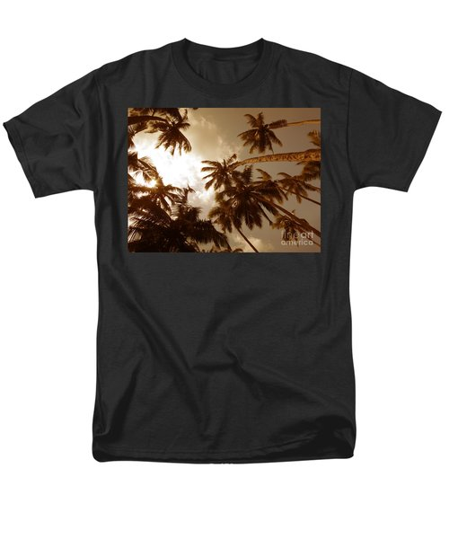 Coconut Palms Men's T-Shirt  (Regular Fit) by Mini Arora