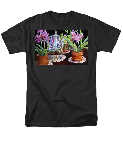Coffee And Flowers Men's T-Shirt  (Regular Fit) by Roger Rockefeller