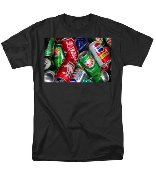 Men's T-Shirt  (Regular Fit) featuring the photograph Collection Of Cans 04 by Andy Lawless