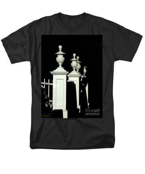Colonial Fence Men's T-Shirt  (Regular Fit) by Marcia Lee Jones