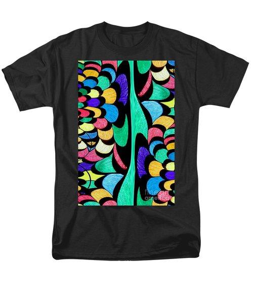 Men's T-Shirt  (Regular Fit) featuring the digital art Color Dance by Rafael Salazar