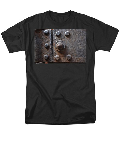 Men's T-Shirt  (Regular Fit) featuring the photograph Color Of Steel 3 by Fran Riley