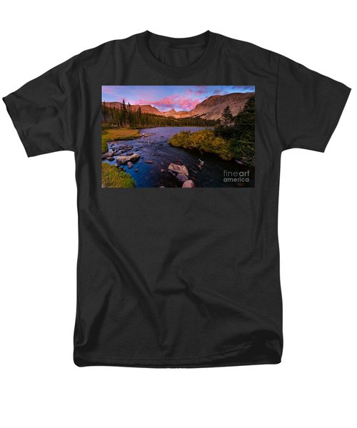 Color Over  Indian Peaks Men's T-Shirt  (Regular Fit) by Steven Reed