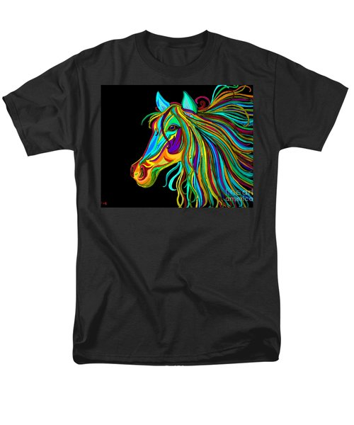 Colorful Horse Head 2 Men's T-Shirt  (Regular Fit) by Nick Gustafson