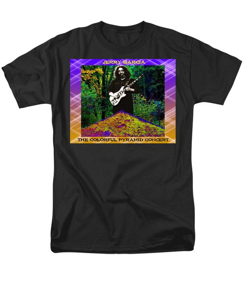 Men's T-Shirt  (Regular Fit) featuring the photograph Colorful Pyramid Concert by Ben Upham