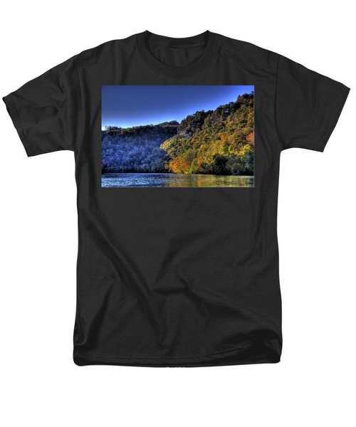 Men's T-Shirt  (Regular Fit) featuring the photograph Colorful Trees Over A Lake by Jonny D