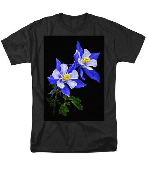 Columbine Duet Men's T-Shirt  (Regular Fit) by Priscilla Burgers