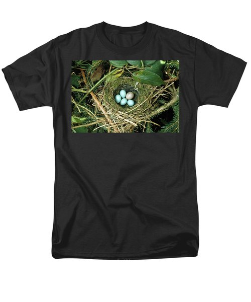 Common Cuckoo Cuculus Canorus Egg Laid Men's T-Shirt  (Regular Fit) by Jean Hall