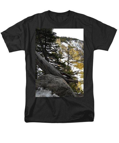 Composition At Lower Falls Men's T-Shirt  (Regular Fit) by Michele Myers