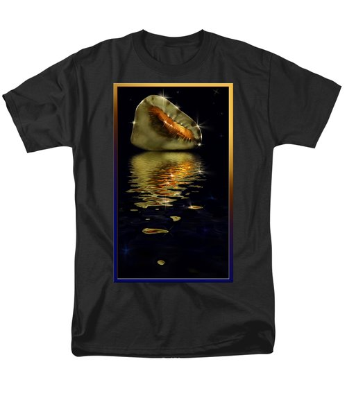 Men's T-Shirt  (Regular Fit) featuring the photograph Conch Sparkling With Reflection by Peter v Quenter