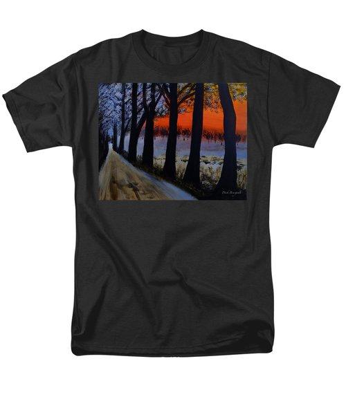 Conrad Road Sunrise Men's T-Shirt  (Regular Fit) by Dick Bourgault