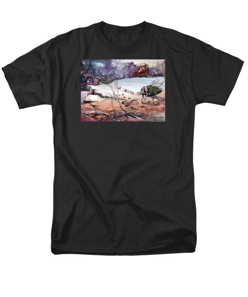 Men's T-Shirt  (Regular Fit) featuring the painting Contest by Mikhail Savchenko