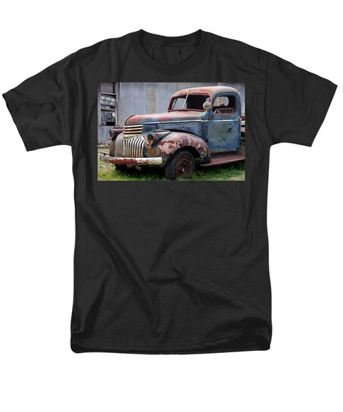 Men's T-Shirt  (Regular Fit) featuring the photograph Cool Blue Chevy by Steven Bateson
