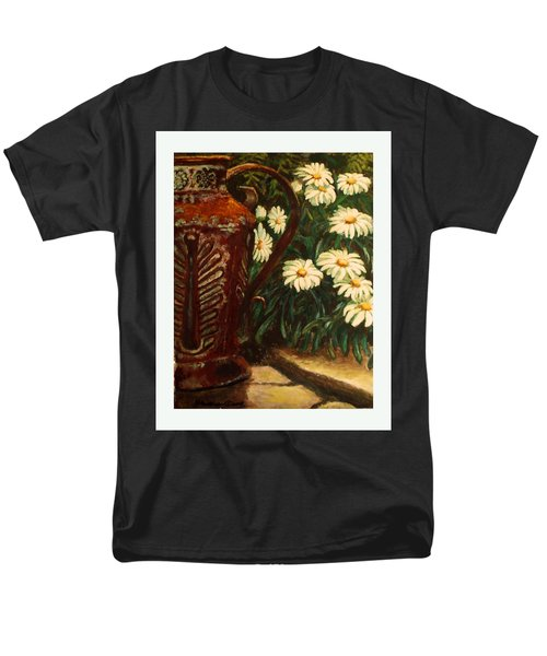 Copper And Daisies Men's T-Shirt  (Regular Fit) by Harriett Masterson