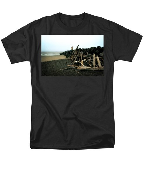 Coquille River South Jetty Men's T-Shirt  (Regular Fit) by Michelle Calkins