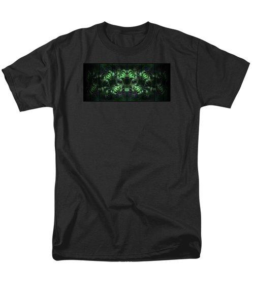 Cosmic Alien Eyes Green Men's T-Shirt  (Regular Fit)